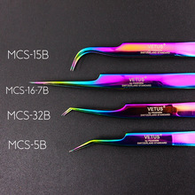Eyelashes Tweezers Extensions 100%Vetus Original for 3D 6D Improve Premium Mcs-Series