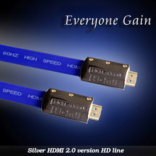 DH-018-Y HDMI 2.0 Version HDMI Cable Male-Male Silver Plated HDMI Cable for HDTV 1080P 2K 4K 3D Ethernet Silver Color