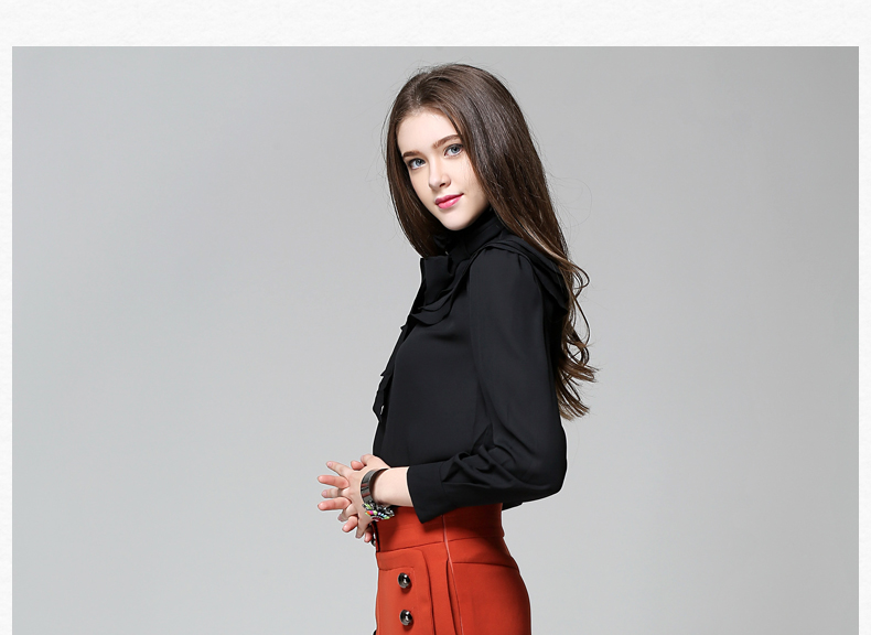 Long Sleeve Office Ladies Women Shirts (19)