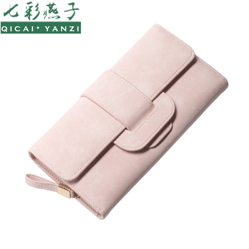 QICAI.YANZI Women Sweet Hasp Long Wallets Lady Lea...