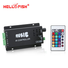 12-24V 24 Keys 180watts Wireless IR Remote Control LED Music Sound Control RGB led Controller Dimmer for RGB LED Strips