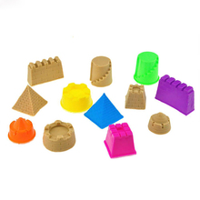 Hot 6Pcs Mini Portable Castle Sand Clay Mold Toys Children Pyramid Sandcastle Outdoor Game Gift Kids  Model Building Kits 2016