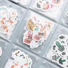 36-40 pcs/lot Cute cartoon animal paper sticker package DIY diary decoration sticker album scrapbooking kawaii stationery 01(China)