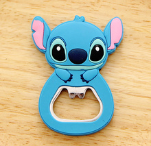 Kawaii NEW Lilo Stitch , SIZE 6*4CM Beer Bottle Opener , Home Kitchen Bottle Beer Opener Helper ; Stainless Steel Opener(China)