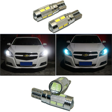 2 x LED W5W T10 Canbus Car Light With Projector Lens For Chevrolet Camaro Cobalt Orlando Spark Cruz Captiva Lacetti Aveo Cruze