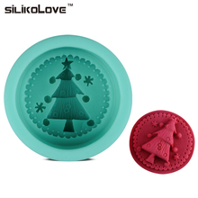 SILIKOLOVE DIY Silicone Mold Christmas Tree DIY Cake Decoration Non-Stick 3D Tree Mold 8.1x8.1x5 CM Liquid Rubber Suppliers(China)