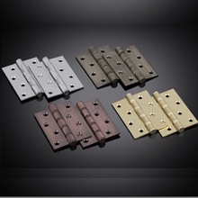 "1x Door Butt Hinges 4"" inch 4 Axises Brand Silencing Mute Brushed Stainless Steel Thicken 76.2x10.1x3mm Heavy Duty"
