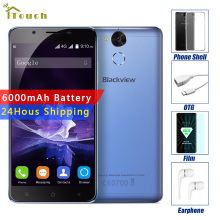"BLACKVIEW P2 Lite 6000mAh Battery 3GB RAM 32GB ROM MTK6753 Octa Core Android 7.0 5.5"" 2.5D IPS FHD Screen 4G LTE Smartphone"