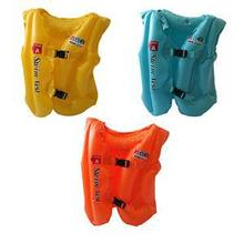 Swimwear Polyester Children's Life Jacket Foam Vest Survival Suit For Kids Swimming Drifting S M L(China)