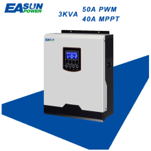 EASUN POWER 2400W Solar Inverter 220V 50A PWM 40A MPPT 3Kva Pure Sine Wave Inverter 50Hz Off Grid Inverter 24V Battery Charger(China)