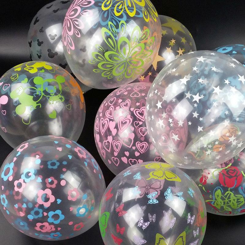 12 pulgadas globo transparente color mezclado partido birtday boda romntica decoracin 50 unidslote