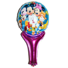 New Minnie Mickey balloons inflatable air toys helium balloons for baby kid toy stick clapper , party supplies baby boy shower(China)