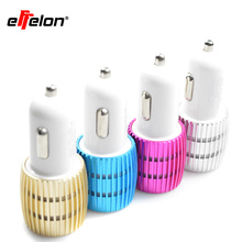 Effelon Car-charger 2.4A / 1A 2 USB Aluminum Car Charger For iphone 4 5 6 for ipad touch For Samsung Galaxy s7 Mobile phone