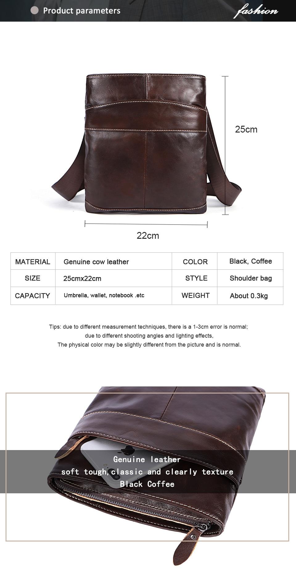 Genuine Leather Men Bag Men Messenger Bags Fashion ipad Flap Crossbody Bags Small Casual Men's Leather Shoulder Bag Man (1)