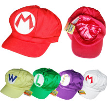 1pcs Cool Super Mario Plush Toys Cotton Plush Caps Mario Luigi Wario Waluigi Cosplay Hat Plush Toys Holloween Gift