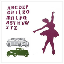 26 Styles Metal Steel Alphabet Letter Dance Cutting Dies Stencil For DIY Scrapbooking Album Paper Card Photo Decorative Craft