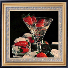 5D Diy Diamond Painting Handmade Painting Diamond Embroidery Glasses And Strawberries Pictures By Numbers Embroidery Ribbons