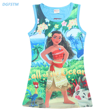 Moana Dress Children Clothing Summer Dresses Girls Baby Pajamas Costume Princess Nightgown Christmas Party Kids Clothing 4-12Y(China)