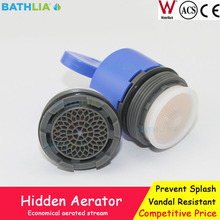 Faucet Tap Hidden  Aerator Plastic Insert Replacement With  water saving  for public faucet