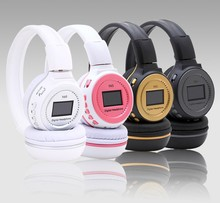 Zealot MP3 Digital Wireless Headband Headphone FM SD Stereo Music Player Sd Card Slot Zealot N65 with LCD Display USB Cable T5(China)