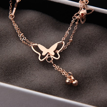Hot butterfly bell anklets simple and elegant temperament girls anklet manufacturers wholesale Ankle Jewelry