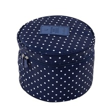 Cute Compact Round Toiletry Cosmetic Underwear Travel Bag Portable Makeup Pouch Case Organizer Gift for Women girl