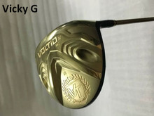 Brand New VickyG Golf Clubs Katana Voltio IV Hi Driver Gold Golf Driver 9 Degree R/S/SR Flex Graphite Shaft With Head Cover(China)