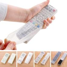 Storage Boxes Transparent Silicone TV Remote Control Cover Protective Holder Bags Home Item Stuff Accessories Supplies #85452(China)