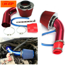 R-EP 3inch/76mm Car Universal Aluminum Air Intake pipe kit+Air FILTER Duct Tube Kit Air filter Performance Cold Air Intake Kit(China)