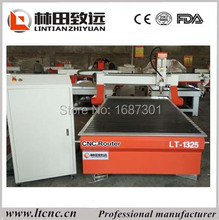 with T-slot table, vacuum table, 1325 cnc router for wood door cutting