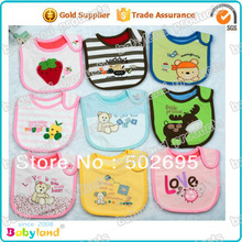 Free Shipping Factory Price Wholesales 50 pcs/lot 100% Cotton Waterproof Baby Wipe Bibs(China)