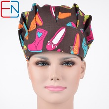 Hennar women doctor caps medical surgical scrub bouffant caps/hats lab caps chem cap skull caps scrub caps colorful shoes(China)