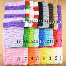 10pcs/pack 26 color Stretch 9 inch crochet headbands tube tutu tops for girls,matching to tutu dress