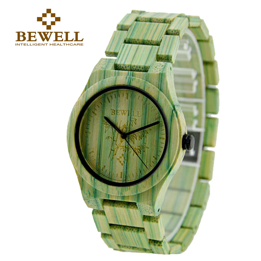 BEWELL W105DL Womens Luxulry Top Brand Design Watches Colorful Hands Wood Wristwatches Female Customized Bamboo Wooden Watches<br>