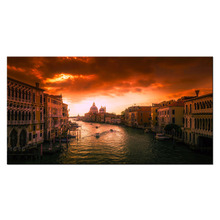 Canvas Print Painting Venice Waterpark Contemporary Wall Decor Home And Office Decorations Modern Lanscape Wall Art Poster Mural(China)