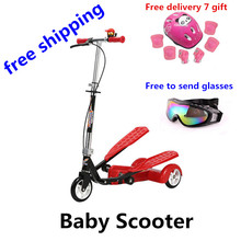 Alloy Steel Baby Walker Baby Scooter Child Kids Outdoor Activities Children Riding Kids Double Pedal Bike Child Car Drift Car