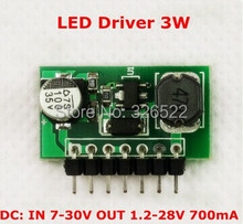 700mA 3W LED Driver Module Lighting Controller 7-30V to 1.2V-28V DC PWM Dimmer