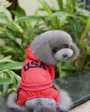 10pcs/lot Big Sale USA Pet Dog thickness coat warm jacket hoody Outerwears clothes LPC902-23