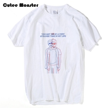 Fight Club Spoiler Alert T shirt Men Fashion Summer Hip Hop Tees You Met Me At A Very Strange Time In My Life Letter T-shirt