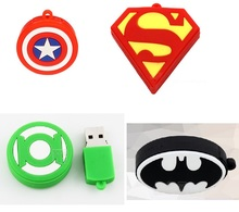 Superman/green lantern/batman/shield pen drive cartoon usb flash drive Memory stick u disk 1gb 2gb 4gb 8gb 16gb 32gb pendrive(China)