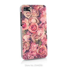 pink rose Cases Hard PC Back Cover Phone Case For Blackberry Z10 Z30 Q20 Q10 Q30 Passport Silver Edit Q5 phone case