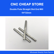 5pcs 4*22MM Two Double Straight Flute Milling Cutter, CNC Engraving Bit, Wood Router Bits Sets, Carbide End Mill(China)