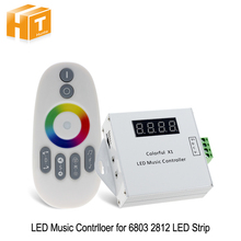Colorful LED Music Controller DC12-24V Magic LED Tape Digital With RF Touch Remote Controller For 6803 2812 Strip(China)
