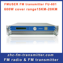 FU-600W Professional FM Exciter wireless Transmitter China 87.5-108 MHz cover 15KM-25KM  Free Shipping