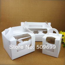 new arrival 4 hole cupcake box, muffin cake box, cake container,food packaging