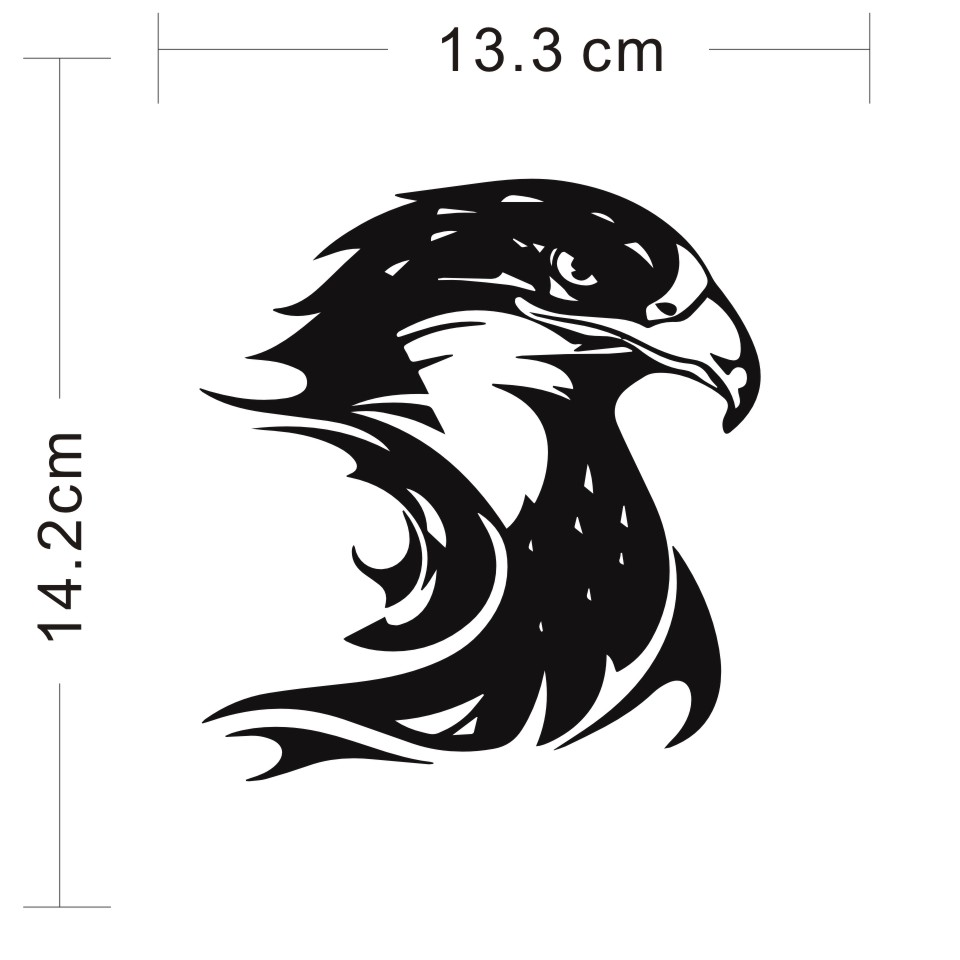 Cunymagos Fire Flame Eagle Hawk Head Decal Car Sticker Vinyl Car Styling Accessories Motorcycle Auto Wall Stickers 13.3CM14 (2)