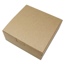 "10Pcs/ Lot Brown 12*12*4.5cm Kraft Paper Collapsible Event Gifts Pack Box For Small Objects 4.72""x4.72""x1.77"" Packaging Boxes"