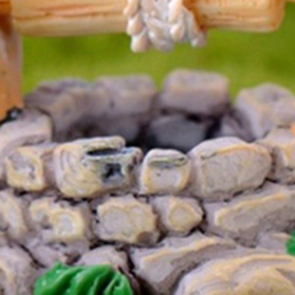 1pc DIY Garden Miniatures Decorations Vintage House Water Well Multicolour Fairy Garden Party Ornament