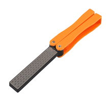 Hot Sell Outdoor Knife Sharpening Stone Hand Hold Double Sided Folded Pocket Sharpener Diamond Knife Sharpening Stone BS(China)
