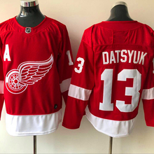 Mens #13 Pavel Datsyuk red Home 100% Embroidery Hockey Jerseys High Quality free shipping(China)